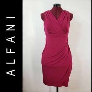 Alfani Women's Sleeveless Sheath Wrap Dress Sz  6P